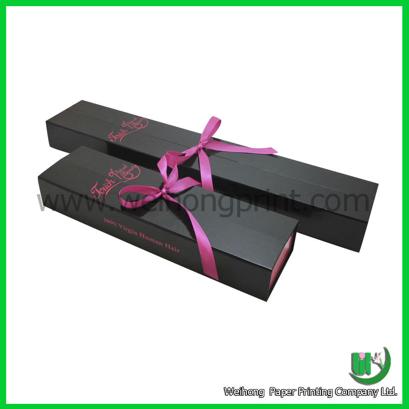 Wholesale Custom Hair Extension Packaging With Ribbon Supplied By
