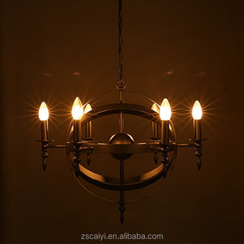 Large Black Iron Rothenburg Shape Pendant Light With Strong Arms ...