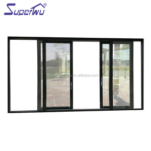 Hot sale residential double tempered glazed sliding door sensor price AS 2047 automatic sliding door opener