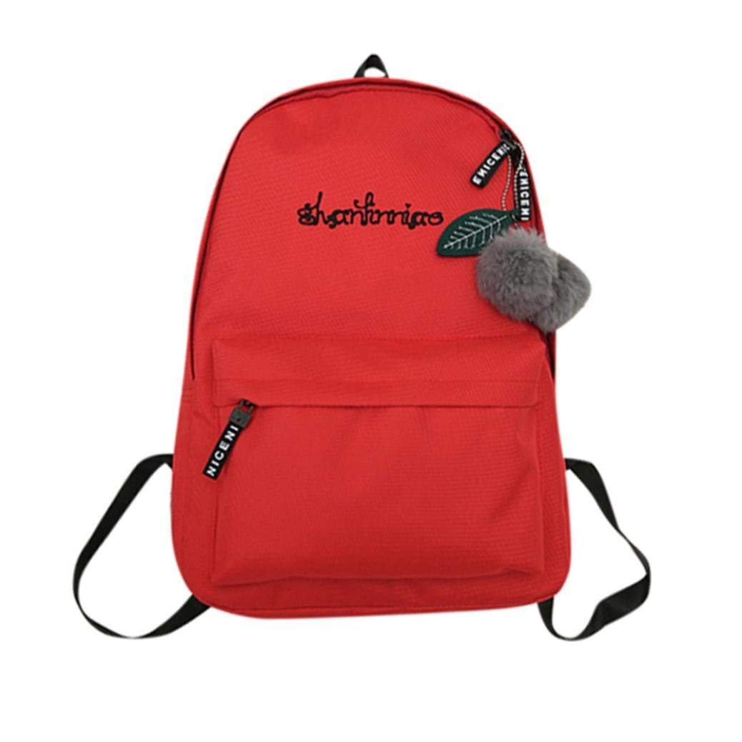 ❤️Clearance! Women's Letter Print Backpack Unisex Preppy Shoulder Solid Bookbags School Travel Backpack Bag Duseedik
