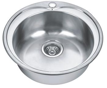 Hot Sale Stainless Steel Single Bowl Round Hand Wash Kitchen Sink Gr ...