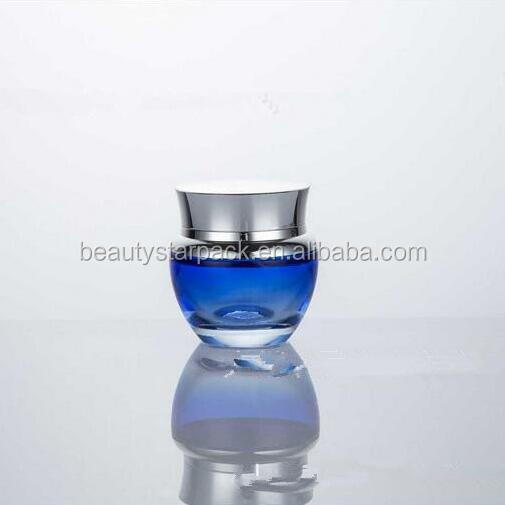 Free sample 30g cosmetic cream glass jar with silver screw cap