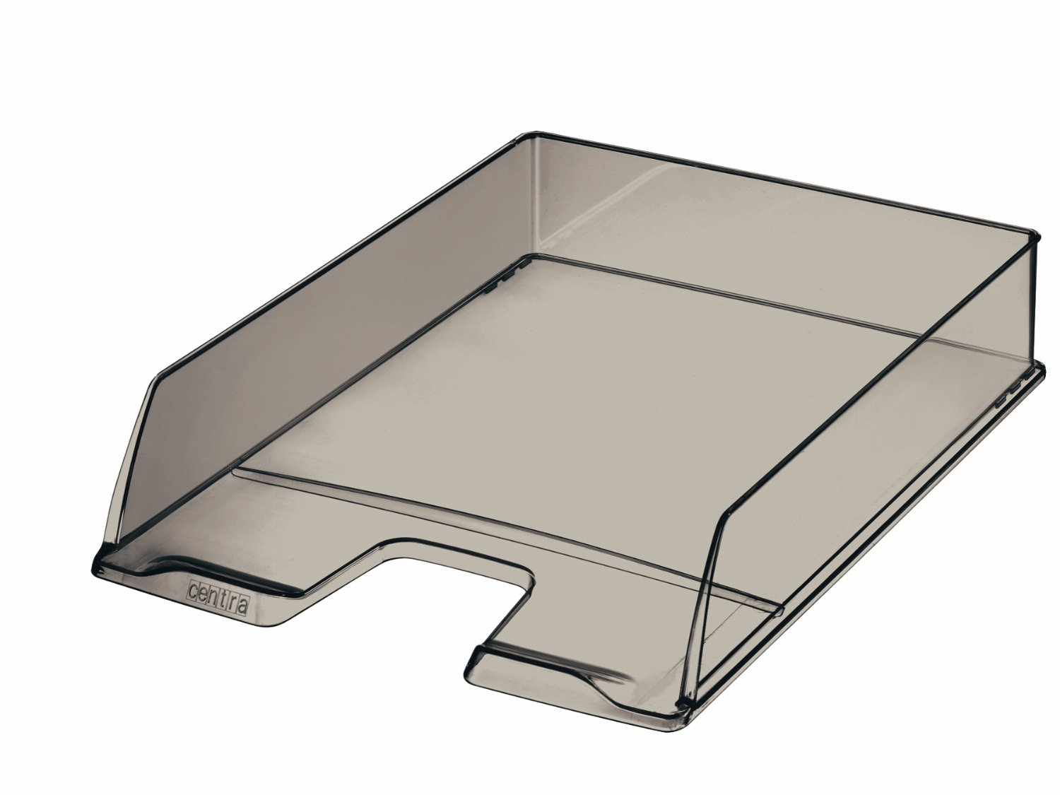 Centra A4 Letter Tray - Smoked Transparent