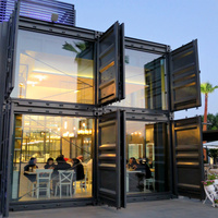 prefabricated pop up coffee shop cafe restaurant mobile container bar