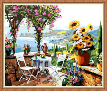 Gx8057 4050 Natural Scenery Glass Painting By Numbers For Home