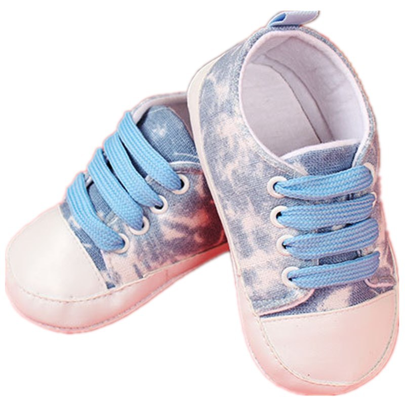 With Insole Breathable Anti-slip Baby Canvas Toddler Shoes Baby Girl and Baby Boy First Walkers LV-15-831