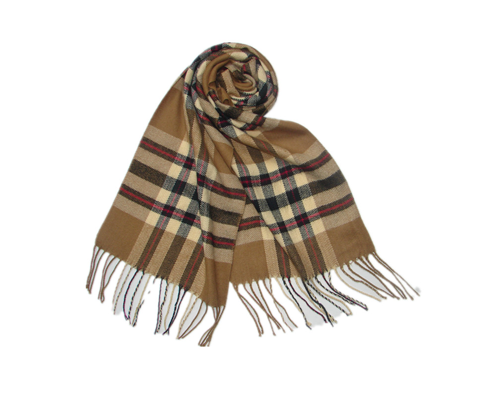 Winter fashion jacquard custom cashmere knit scarf