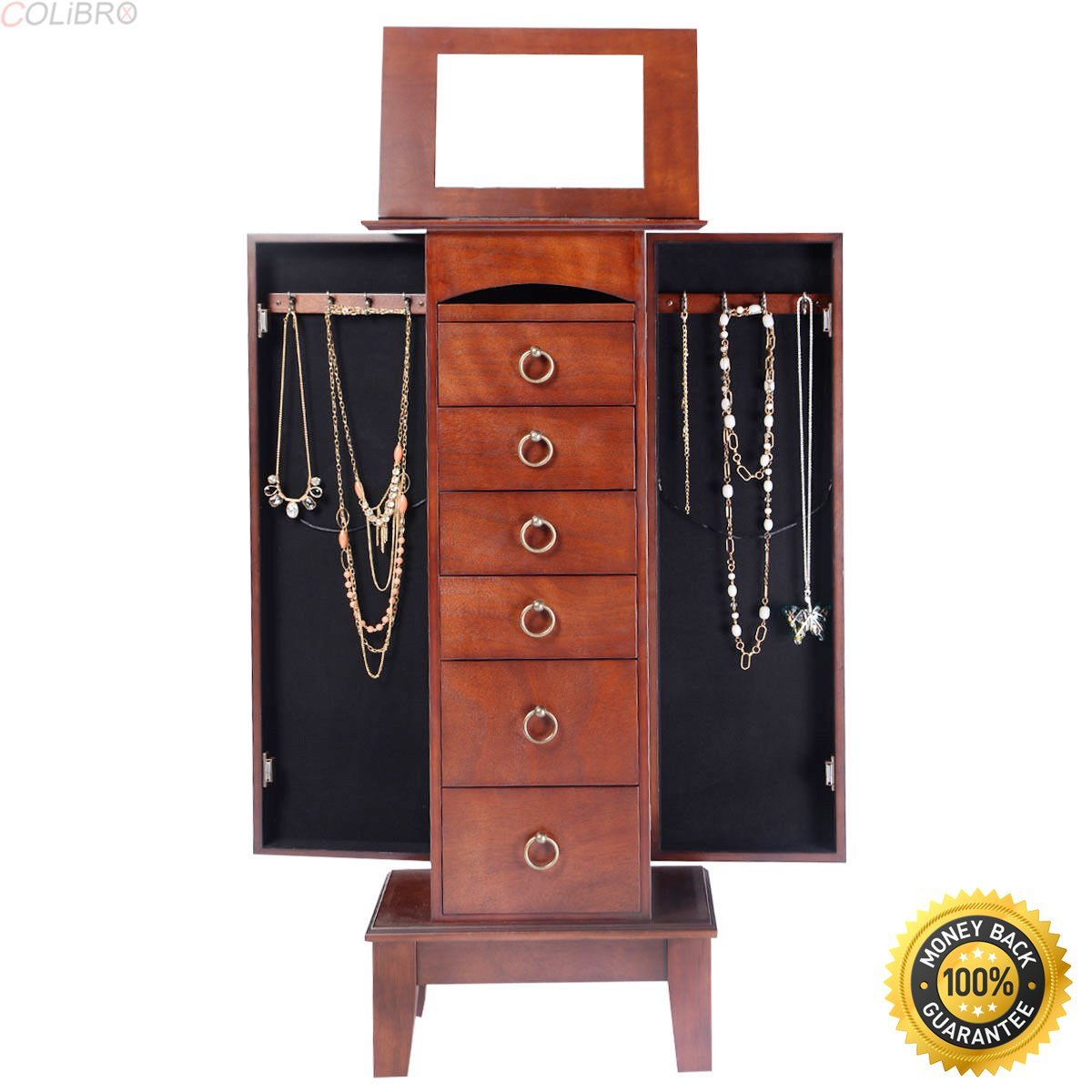 COLIBROX-Wood Jewelry Cabinet Armoire Storage Box Chest Stand Organizer Christmas Giftjewelry box  sc 1 st  Alibaba & Cheap Target Jewelry Box find Target Jewelry Box deals on line at ...
