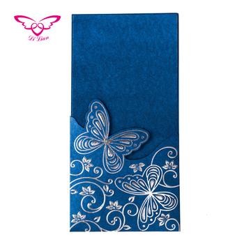 Real Azul De La Mariposa Tarjeta De Invitación De Boda Hecho A Mano Buy Tarjeta Invitación De Boda Para Hacer A Mano Tarjetas De Invitación