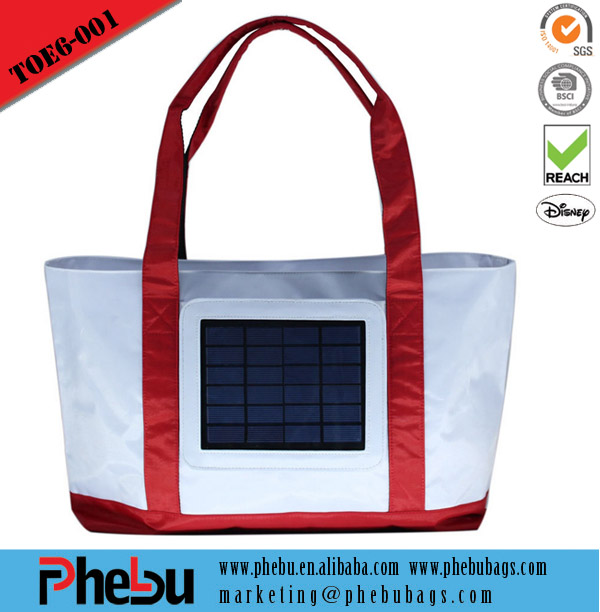 Fashion women tote bag shopping solar beach bag(TOE16-001)