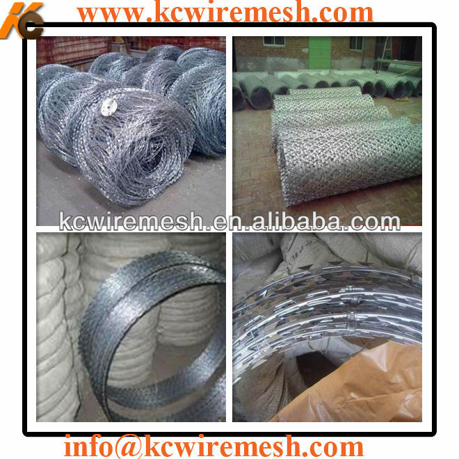How to install galvanized razor barbed wire, KC brand razor wire is easy installation!!