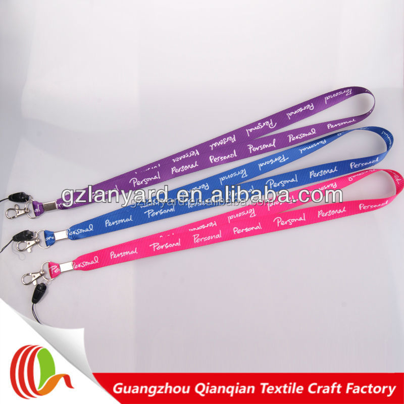 Promotional good quality mobile phone lanyard & design and sample free