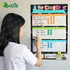 Dry-erasable Monthly weekly planner magnetic PET whiteboard sticker fridge magnet calendar