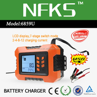 CE RoHS 12V Battery Charger Solar 2A 4A 8A 12A Auto with Smart LCD Display