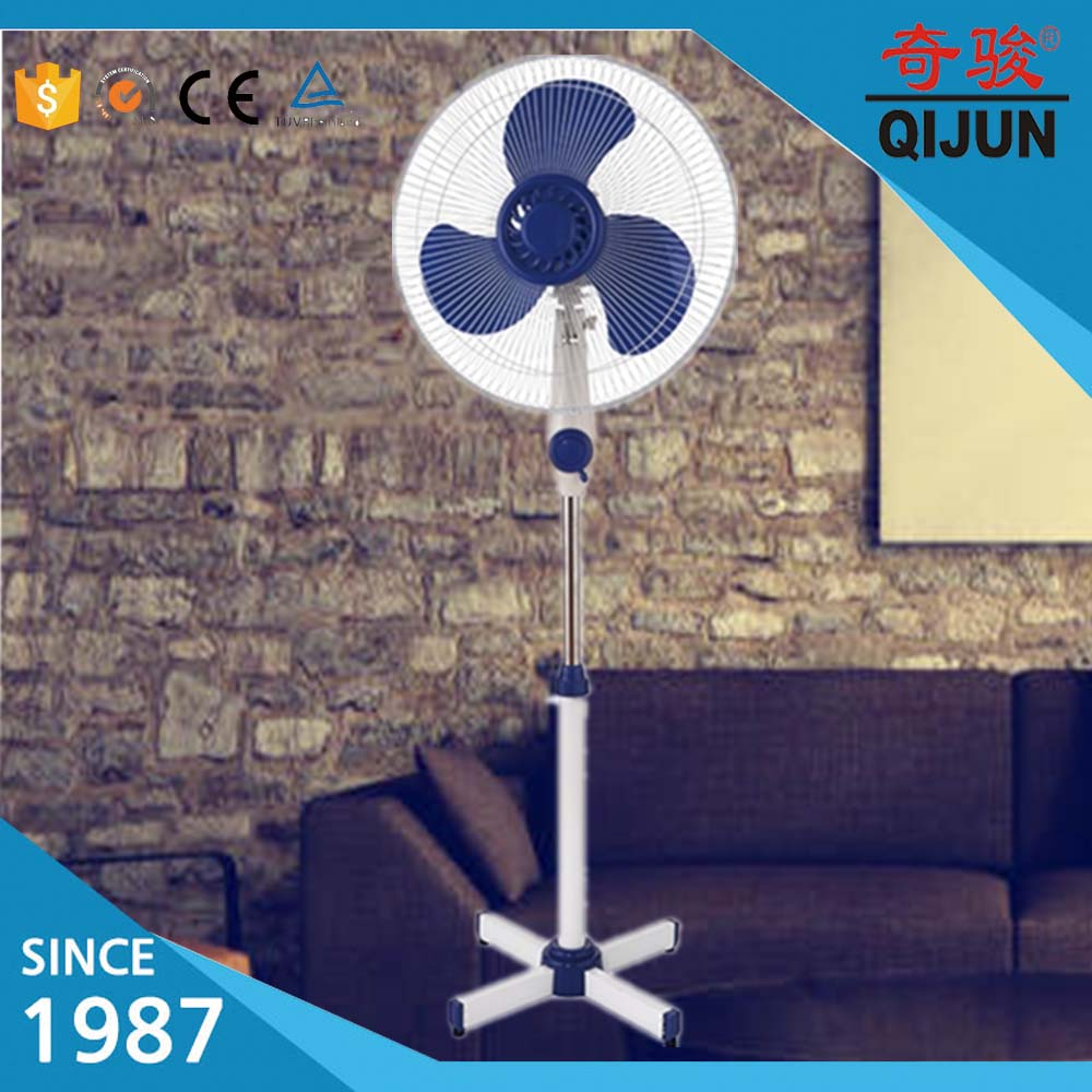 "White Home 16"" Inch Oscillating Stand Standing Tower Pedestal Cooling Fan"