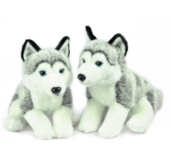 10 Lovely Plush Dog Siberian Husky Soft Stuffed Animal Puppy Toy