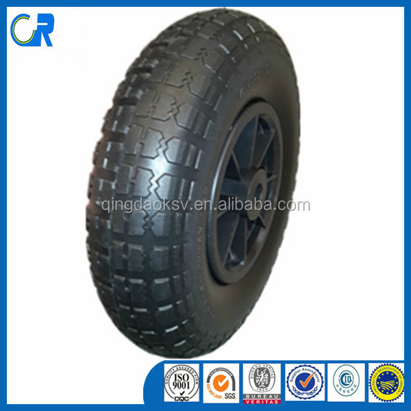 Environmental pu solid tire 4.10/3.50-4 for wheel barrow or trolley