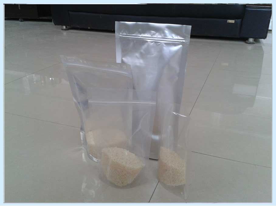Transparent independent self sealing thickening food bag/stand up zip lock clear pouch