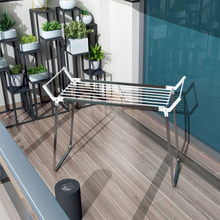 Heavy duty Outdoor Balcony Foldable Metal Clothes Drying Rack