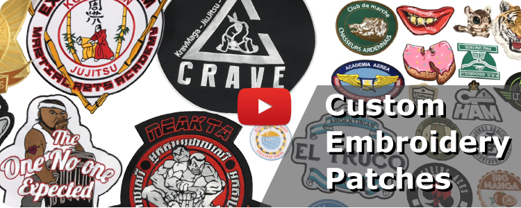 Hot Sale No Minimum Custom Embroidered Flag Patches