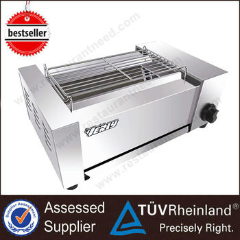 Restaurant And Home Use Kitchen Equipment Professional Indoor Cast Gas bbq Grill