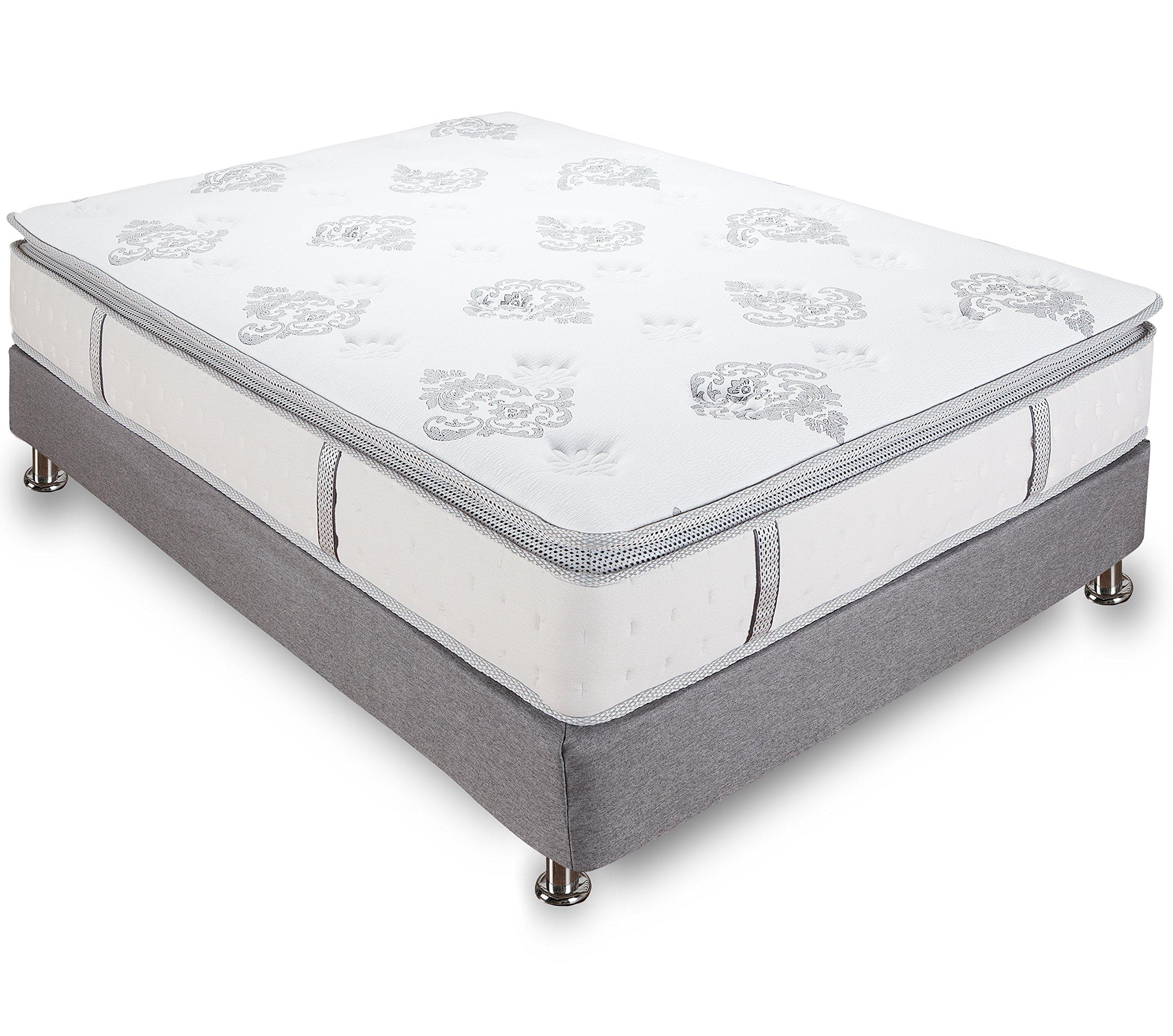 Classic Brands Mercer Pillow-Top Cool Gel Memory Foam and Innerspring Hybrid 12-Inch Mattress, Full