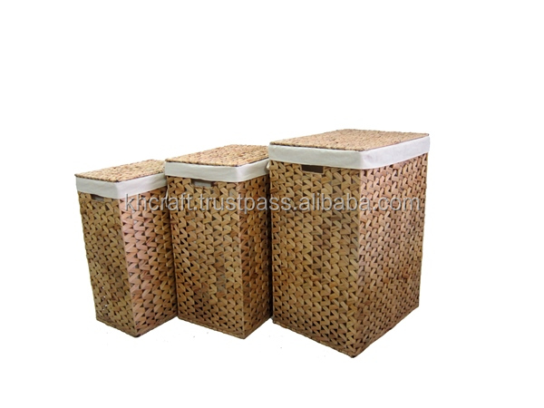 Water hyacinth Laudry Hamper - Best product for dirty clothe