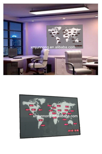 Wall mounted led digital world time zone clock world map clock22 wall mounted led digital world time zone clock world map clock22 major city gumiabroncs Images
