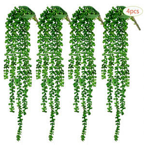 4pcs Artificial Succulents Hanging Plants String of Pearls