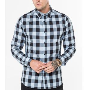 Basic Men Homme For Chemise Carreaux Noir Custom Arrival Designs New Shirt Compressionlatest Cotton Man TlK5uF13Jc