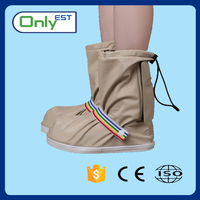 High quality lightweight printed rain cycling shoe covers pvc boots