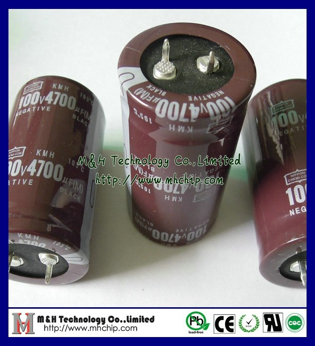 Snap in Aluminum Electrolytic capacitor 4700uF 100V