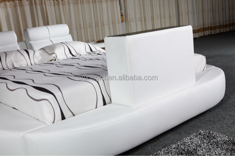 2018 New Arrival Modern Home Unique Designs Leather TV Bed Designer  Furniture Cheap Price For Sale