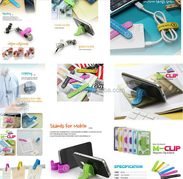 Cable Clip Cable Organizer Mobile Stand M-Clip Magnetic Clip