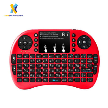 Rii I8+ 2 4g Mini Wireless Keyboard With Backlight Multi-touch Touchpad Us  Layout Handheld For Android Tv Box Htpc Pc - Buy Keyboard Wireless