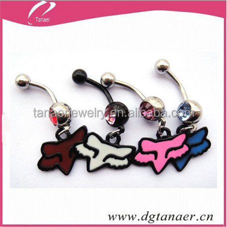 New 14g Navel Piercing Jewelry Summer Collection Fox Racing Belly
