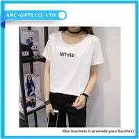 cheap slim fitting individual design OEM women organic cotton t-shirt