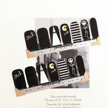 Black White JACK Skull Nail Arts Nail Sticker Waterproof Nail Decal Sticker Gel Polish French Manicure