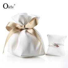 Oirlv Custom Jewellery bags With suede Pillow cushion For Ring Bracelet Necklace Watch gift Packaging jewelry PU leather pouch
