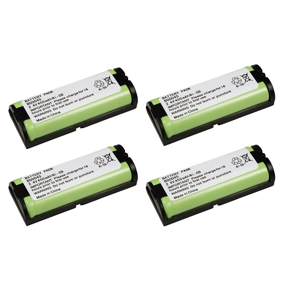 4 Pack Fenzer Replacement Cordless Phone Rechargeable Battery for Panasonic KXTG5771 KX-TG5771 KXTG5771S KX-TG5771S KXTG5776 KX-TG5776 KXTG5776S KX-TG5776S KXTG5777 KX-TG5777 KXTG5779 KX-TG5779