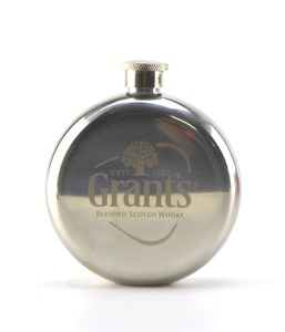 Small 5oz Round Compact Petit Stainless Portable Liquor Wine Hip Flask