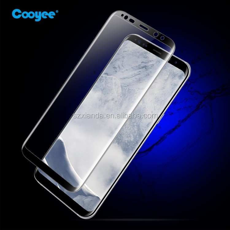 New model!!!For Samsung Galaxy S8 3D Curved Full Cover Tempered Glass