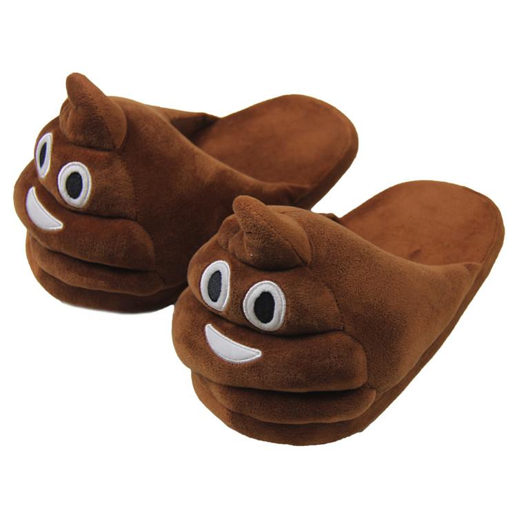 2018 Unisex Plush Fluffy Nhà Giày Poop Biểu Tượng Cảm Xúc Dép Cho Nam Giới  - Buy Dép Cho Nam Giới,Phân Của Biểu Tượng Cảm