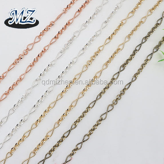 fashion infinity shape design large link chain for jewelry making