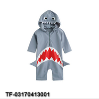 High Quality Small Children Summer Beach Shark One Pieces Boys Swimming Suit