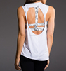 Mature Sexy ladies summer backless stylish loose fit tank tops for casual wear gym wear