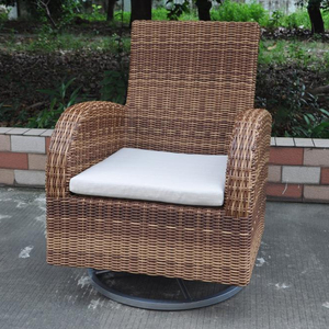 Traditional patio rattan furniture with aluminum revolving chair