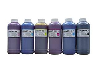 ND TM Brand Dinsink: 6 Pint (6x500ml) (CMYK/LC/LM) dye refill ink for Epson Stylus Pro 7000 9000 10000 10600 Printer cartridge T499011 T500011-T504011