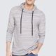 Heather mens hooded pullover thin plain sweatshirt