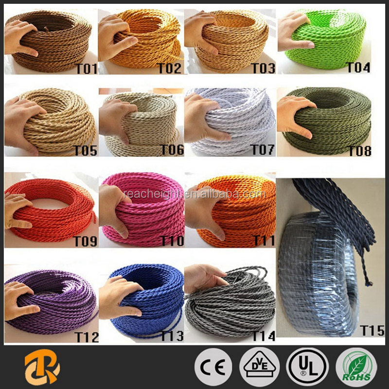 Twisted Wire Twisted Cable Cotton Braided Electrical Wire